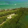 Aerial view of the 15th hole at Bahia Beach Resort & Golf Club