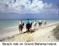 Beach ride on Grand Bahama Island